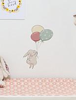 cheap -Children's Room Cartoon Self-adhesive Wall Stickers Little Flying Rabbit Pattern Bedroom Waterproof Cute Stickers