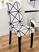 cheap -Line White 1Pcs Chair Cover for Dining Room Mandala Print Chairs Covers High Back for Living Room Party Wedding Christmas Decoration