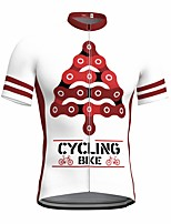 cheap -21Grams Men's Short Sleeve Cycling Jersey Summer Spandex Polyester White Funny Bike Top Mountain Bike MTB Road Bike Cycling Quick Dry Moisture Wicking Breathable Sports Clothing Apparel / Athleisure