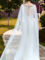 cheap -Sleeveless Elegant & Luxurious Tulle Wedding / Wedding Party Women's Wrap With Solid
