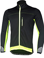 cheap -Men's Cycling Jacket Winter Spandex Bike Top Fleece Lining Quick Dry Sports Patchwork Black / Red / Green / Black Clothing Apparel Bike Wear / Long Sleeve / Micro-elastic / Athleisure