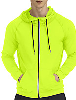 cheap -Men's Cycling Jacket Winter Bike Top Quick Dry Moisture Wicking Sports Solid Color Blue / Green / Black Clothing Apparel Bike Wear / Long Sleeve / Micro-elastic / Athleisure