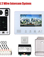 cheap -7 Inch BUS 2 Wire Fingerprint Video Door Phone Intercom systems for home Electronic Door Lock