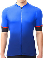 cheap -21Grams Men's Short Sleeve Cycling Jersey Summer Spandex Blue Gradient Bike Top Mountain Bike MTB Road Bike Cycling Quick Dry Moisture Wicking Sports Clothing Apparel / Stretchy / Athleisure