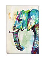cheap -Oil Painting Handmade Hand Painted Wall Art Rectangle Elephant Animal Abstract Wall Art Canvas Home Decoration Decor Stretched Frame Ready to Hang