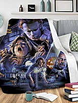 cheap -Cotton Polyester Blend Halloween 3D Print Throw Blanket All Season For Couch Chair Sofa Bed PicnicSoft Fluffy Warm Cozy Plush Autumn Winter