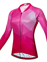cheap -21Grams Women's Long Sleeve Cycling Jersey Spandex Red Bike Top Mountain Bike MTB Road Bike Cycling Quick Dry Moisture Wicking Sports Clothing Apparel / Stretchy / Athleisure