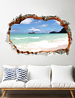 cheap -3D Landscape Wall Stickers Living Room Kids Room Kindergarten Removable PVC Home Decoration Wall Decal 1pc