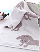 cheap -1 Pc 100% Cotton Premium Ring Spun Hand Kitchen Shower Towel(Set) Machine Washable Super Soft Highly Absorbent Quick Dry For Bathroom Hotel Spa Animal  34*75cm