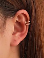 cheap -Women's Earrings Geometrical Fashion Stylish Simple Earrings Jewelry Silver / Gold For Street