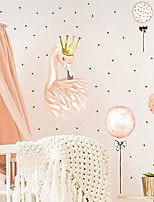cheap -swan with a crown wall sticker watercolor balloon wall decal vinyl peel and stick wall decor for beautiful living room bedroom (size 11.8 x 35.4 inch)