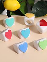 cheap -Ring Geometrical Blue Yellow Blushing Pink Resin Heart Stylish Simple European 1pc One Size / Women's