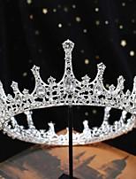 cheap -H500 Bride Wedding Crown Headdress Photo Studio Wedding Korean Crystal Crown Princess Birthday Crown