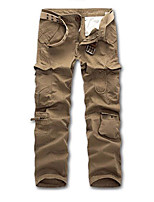 cheap -Men's Work Pants Hiking Cargo Pants Hiking Pants Trousers Winter Outdoor Windproof Ripstop Breathable Multi Pockets Pants / Trousers Bottoms ArmyGreen Earth green Grey khaki Black Fishing Climbing
