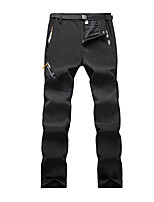 cheap -Men's Fleece Lined Pants Hiking Pants Trousers Softshell Pants Winter Outdoor Thermal Warm Waterproof Windproof Fleece Lining Bottoms Army Green Blue Grey Black Hunting Fishing Climbing S M L XL XXL