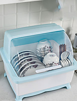 cheap -Kitchen Bowl Dish Storage Box Drain Rack with Lid Double-Layer Household Plastic Large Dish Rack Cupboard