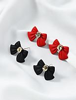 cheap -Women's Earrings Geometrical Fashion Stylish Earrings Jewelry Black / Red For Street