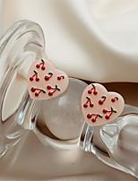 cheap -Women's Drop Earrings Earrings Geometrical Wedding Birthday Stylish Simple Baroque Korean Sweet Earrings Jewelry Blushing Pink For Wedding Gift Date Promise 1 Pair