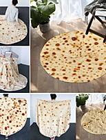 cheap -Printed Flannel Flatbread Blanket Pizza Blanket Biscuit Blanket TV Blanket Air Conditioning Blanket Burrito Blanket