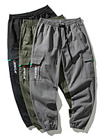cheap -Men's Work Pants Hiking Cargo Pants Track Pants Drawstring Military Winter Summer Outdoor Windproof Ripstop Breathable Multi Pockets Cotton Elastic Waist Bottoms Dark Grey Green Black Camping