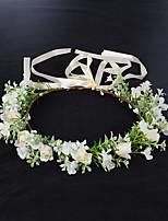 cheap -Spring Garland Fresh Artificial Flower Headdress Green Plant Flower Crown Bridal Holiday Wedding Head Garland