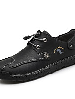 cheap -Men's Loafers & Slip-Ons Lace up Classic Chinoiserie Daily Microfiber Shock Absorbing Wear Proof Green Black Brown Fall Spring