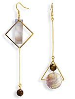cheap -irregular geometry drop dangle abalone shell mismatch earrings for woman