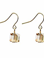cheap -earrings square geometric drop pendant rhinestone wedding earrings for women,champagne