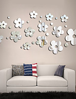 cheap -3D Mirror Flowers Art Removable Wall Sticker Acrylic Mural Decal Home Room Decor Hot Decorative Stickers
