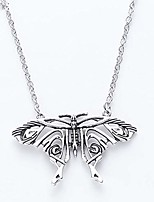 cheap -mama mia butterfly necklace - mamma necklace pendant silver antique butterfly pendant big butterfly costume necklace trendy jewelry accessories for women gift