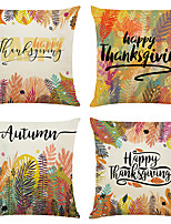 cheap -Fall Thanksgiving Double Side Cushion Cover 4PC Soft Decorative Throw Pillow Cover  Pillowcase for Bedroom Livingroom Superior Quality Machine Washable Indoor Cushion for Sofa Couch Bed Chair Fall