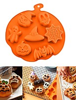 cheap -3D Cake Mold Halloween Pumpkin Silicone Mold Fondant Candy Cookie Cake Mold Cupcake Decoration Cake Tools Baking Accessories