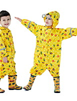 cheap -Kids Unisex Puddle Suit Raincoat Long Sleeve Yellow Cartoon Car Star Pocket Reflective Strip Cute 2-6 Years / Fall / Winter / Spring / Summer