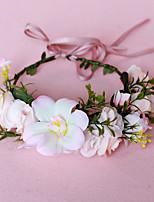 cheap -Holiday Wreath Headdress Aesthetic Bride Hair Band Wedding Hair Accessories Head Wreath