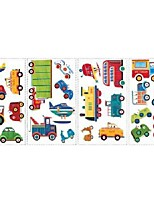 cheap -Creative cartoon car self-adhesive wall stickers PVC stickers vehicles children bedroom wall decoration stickers