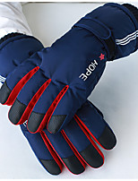 cheap -Ski Gloves Snow Gloves for Women Men Touchscreen Thermal Warm Windproof PU Leather Full Finger Gloves Snowsports for Cold Weather Winter Skiing Snowboarding Cycling