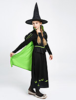 cheap -halloween children's dress, evil witch acting costume with hat