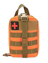 cheap -first aid pouch, survival medical utility bag military emergency backpack with patch for traveling camping cycling climbing(orange)