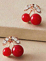 cheap -Women's Earrings Cherry Stylish Simple Cartoon Fashion Classic Earrings Jewelry Red For 1 Pair