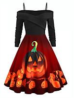 cheap -Santa Suit Pumpkin Women's Christmas Festival Halloween Festival / Holiday Terylene Black Women's Easy Carnival Costumes Halloween / Dress