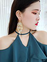 cheap -Women's Pearl Mismatch Earrings Mismatched Feather Dream Catcher European Pearl Earrings Jewelry Golden For Street Carnival Festival 1 Pair