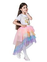 cheap -cross-border hot-selling girls mesh rainbow skirt tutu skirt children dance skirt skirt princess dress performance costume