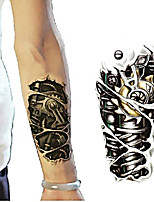 cheap -5 pcs Temporary Tattoo Stickers 3D Robot Arm Removable Waterproof Tattoo Body Art for Men