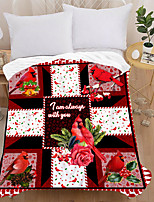 cheap -3d Printed Flannel Blanket Thick Double-layer Blanket Air-conditioning Blanket Air-conditioning Quilt Sheet Cardinal Style