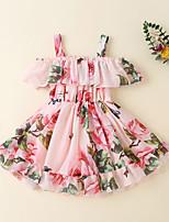 cheap -Kid's Little Girls' Dress Flower / Floral HA20320A HA20320B HA20320C Sleeveless Dresses