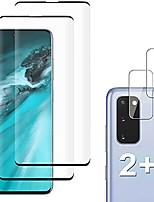 cheap -[2+2 pack] galaxy s20 screen protector,(s20 5g) include 2 pack tempered glass screen protector + 2 pack tempered glass camera lens protector,9h hardness,anti-fingerprint,anti-scratch for galaxy s20