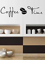 cheap -Coffee Time Wall Stickers Dining Room Living Room Removable Pre-pasted PVC Home Decoration Wall Decal 1pc