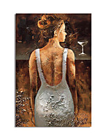 cheap -Oil Painting Handmade Hand Painted Wall Art Abtract People Canvas Painting Home Decoration Decor Stretched Frame Ready to Hang
