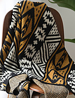 cheap -Blankets Throws, Geometric Acrylic Fibers Tassel Soft Comfy Blankets