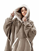 cheap -the original oversized sherpa wearable blanket hoodie | plush fleece blanket sweatshirt with pockets and sleeves for men and women | one size fits all (32x44 inches) (latte)